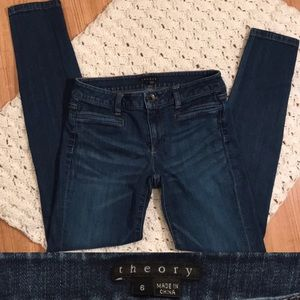 THEORY SKINNY Jeans size 6 dark medium blue